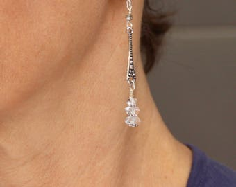 Herkimer Diamond Earrings (with Sterling Silver earhooks)