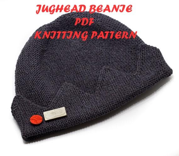 PDF knitting pattern Jughead Jones Beanie SUMMER version from  6062a1c13a3