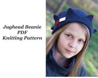 Jughead Jones Beanie PDF knitting pattern SUMMER version from cotton yarn