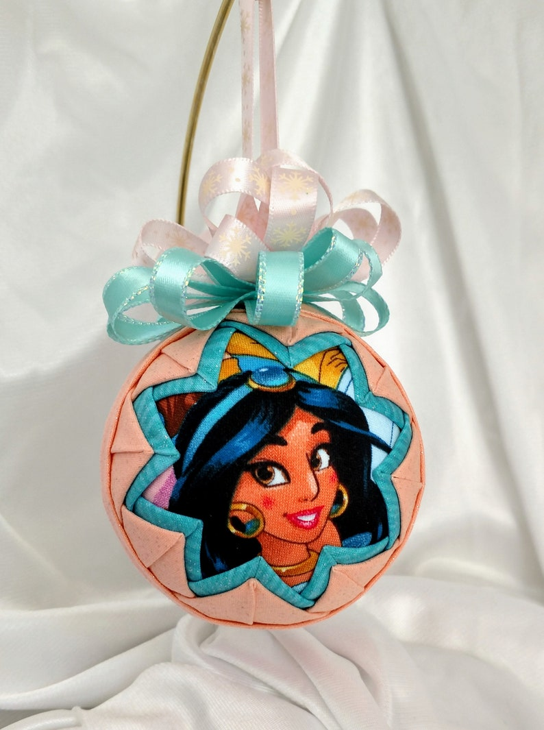 Disney Jasmine Princess Quilted Ornamentgreat Gift Idea Ready To Ship
