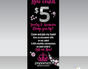 UPDATED LOGO Paparazzi Instant Download Digital Banner 2-Fashion Consultant-6x2.5ft