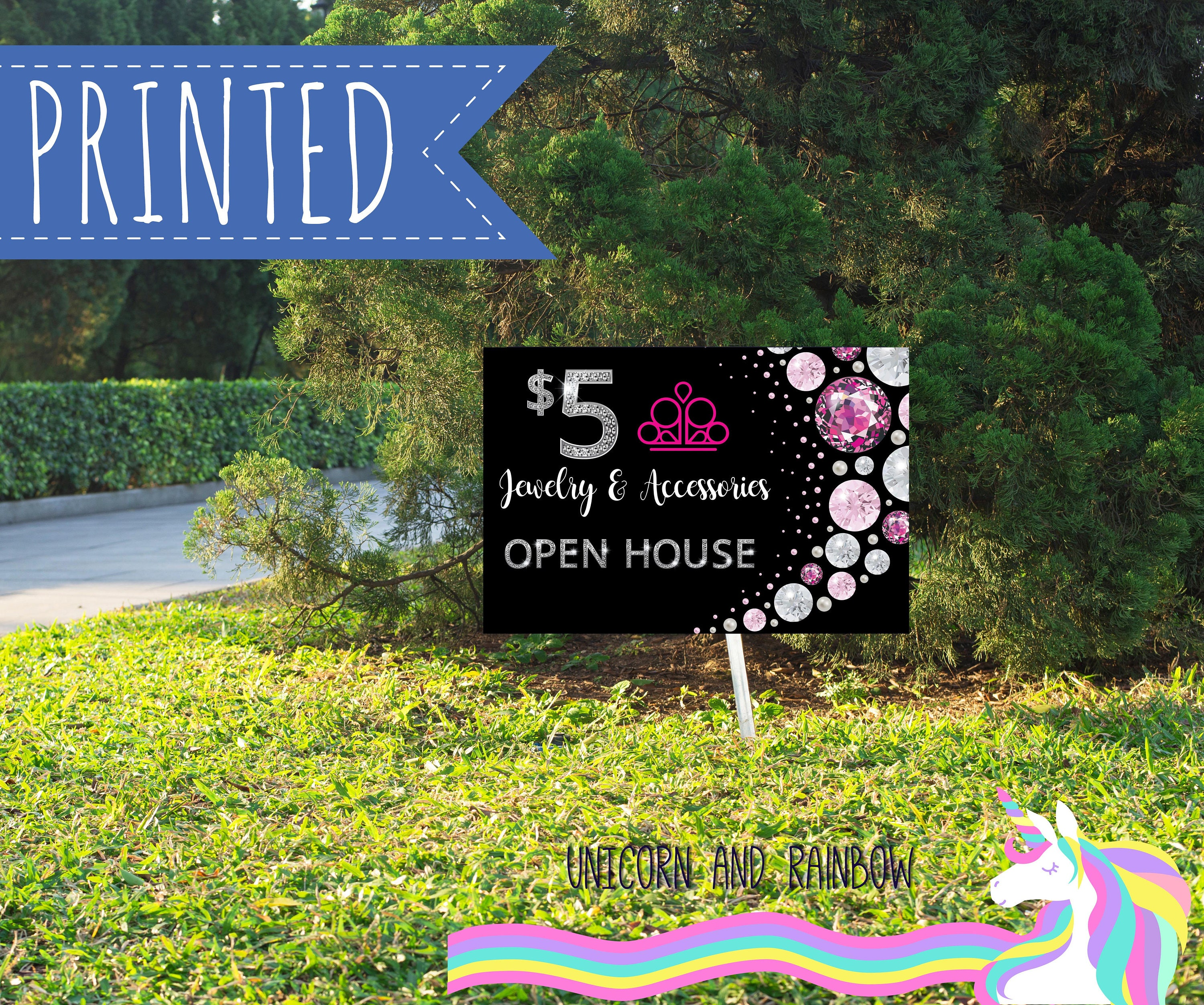 Printed Yard Sign Fashion Consultant Open House 18x24in Etsy