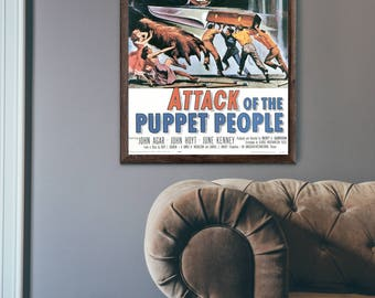 Vintage Movie Poster - Attack of the Puppet People - Poster
