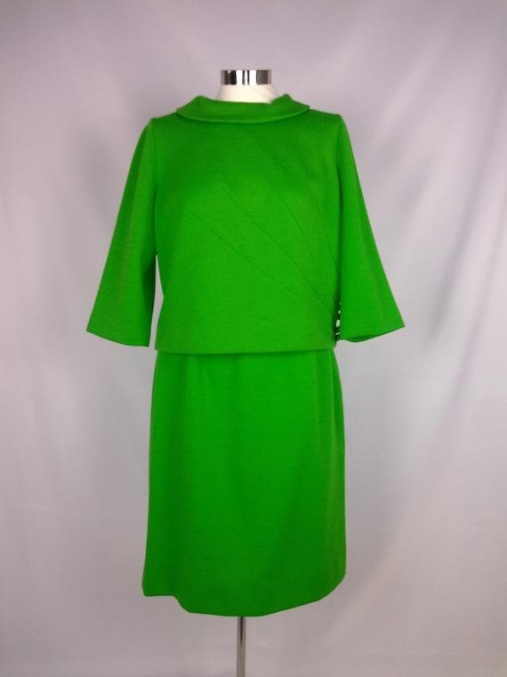 "1960s TWO PIECE ""Knit Originals by Leslie Pomer"" K"