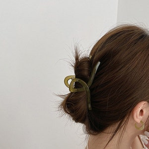 Clear hair claws,big hair claw,x large french claw hair clip,Minimalism Hair Claw,Birthday Gifts,Wholesale Hair Accessories