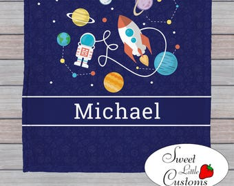 Personalized Children's Astronaut Blanket