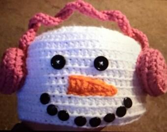 Snowman Crochet Hat