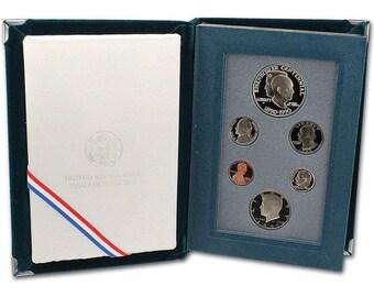 NICE SET W//COMMEMORATIVE DOLLAR /& ORIG PACKAGING 1987 U.S PRESTIGE PROOF SET