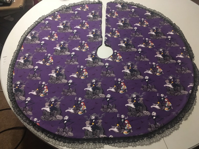 Nightmare Before Christmas Tree Skirt With Black Lace Etsy
