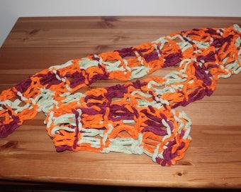 Handmade Zippy Loom Drop Stitch Knit Scarf