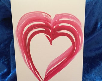 "Box of Six -- 4"" x  6"" Heart Cards"