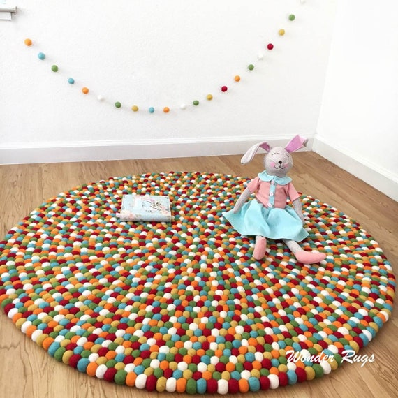Handmade Colorful Rug Area Rug by WonderRugs