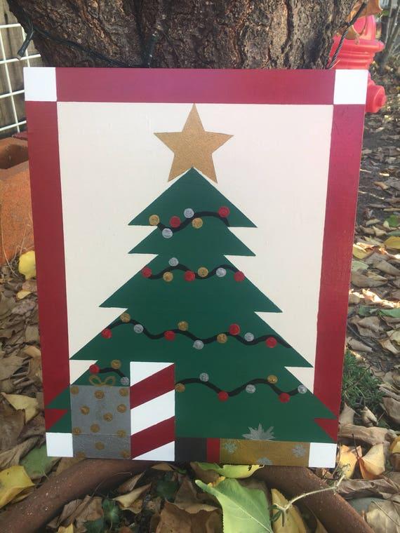 Christmas In The Barn 2020 Kc Christmas tree mini barn quilt   Etsy