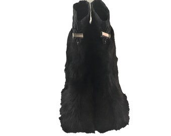 ec140c466b67 Vintage PRADA Black Goat Hair Warm Light Flat Winter Snow Boots Drawstring  Tops