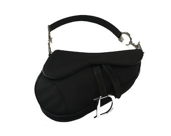 5dea2eabb4b Vintage CHRISTIAN DIOR Most Desirable Black Saddle Bag Metal