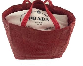 740f223bce59e7 Vintage PRADA Pink Exotic leather Bag Handbag