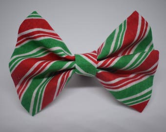 Holiday Striped Bow Tie