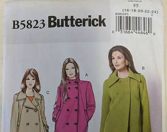 B5823, McCall's, Sewing Pattern, Coat Pattern, Jacket Pattern, Out of Print, Sizes 16-24