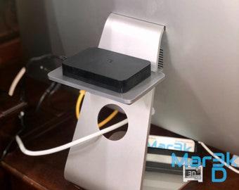 iMac Hidden Storage Shelf | 3D printed | Office | Apple Accessory | External Hard drive