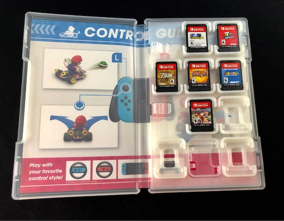 nintendo switch cartridge case add on 3d printed switch etsy