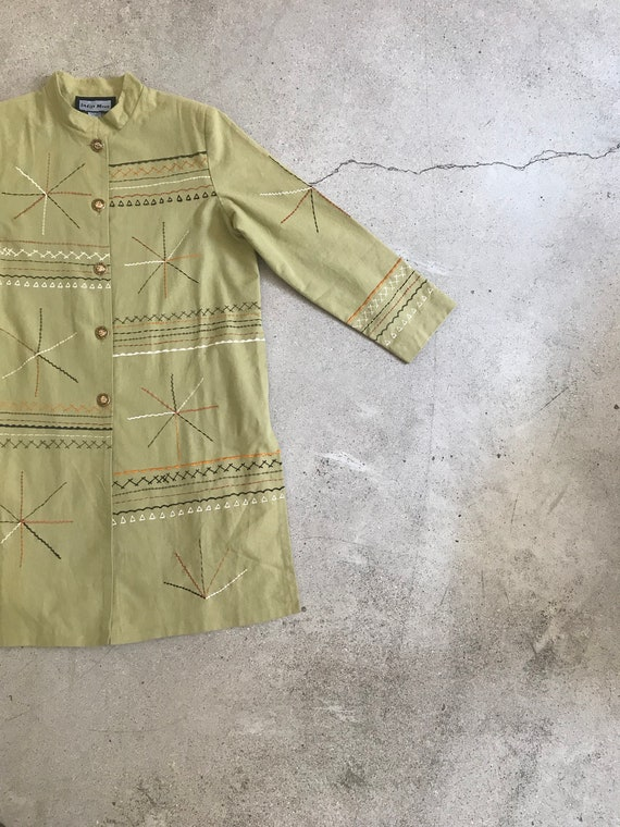 Vintage Abstract Trench Coat - image 4