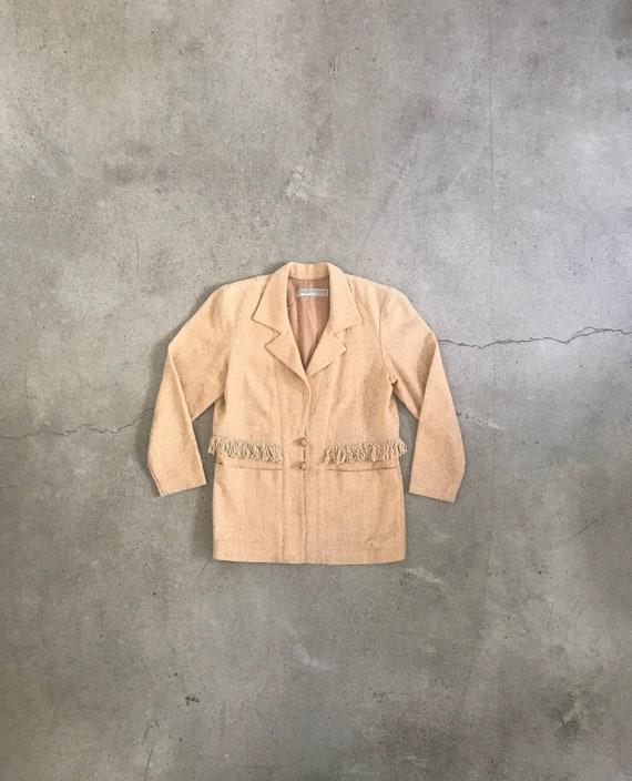 Vintage Fringed Blazer