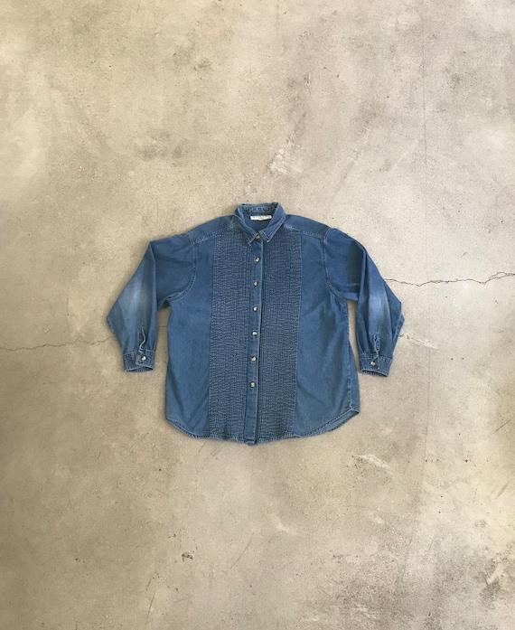 Vintage Denim Stripe Shirt