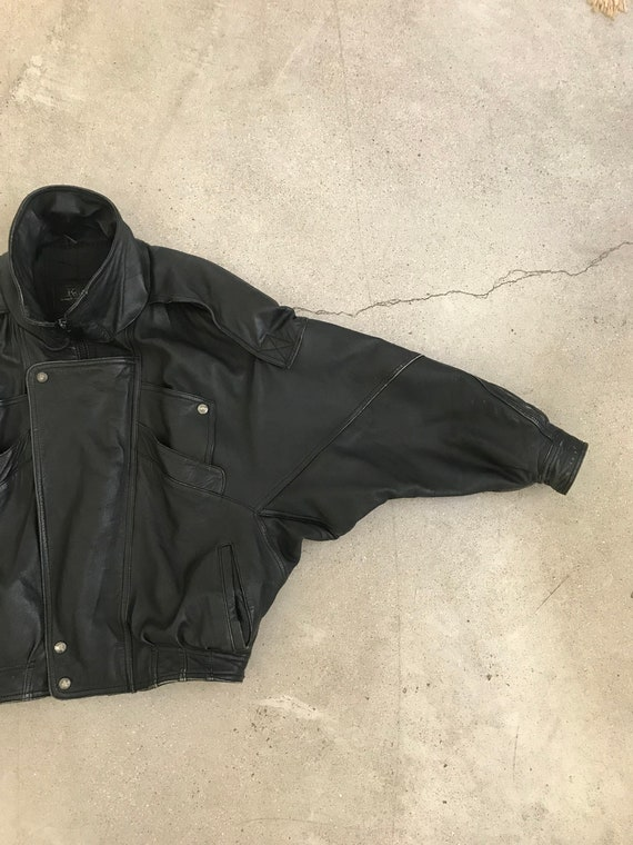Vintage Heavy Leather Bomber