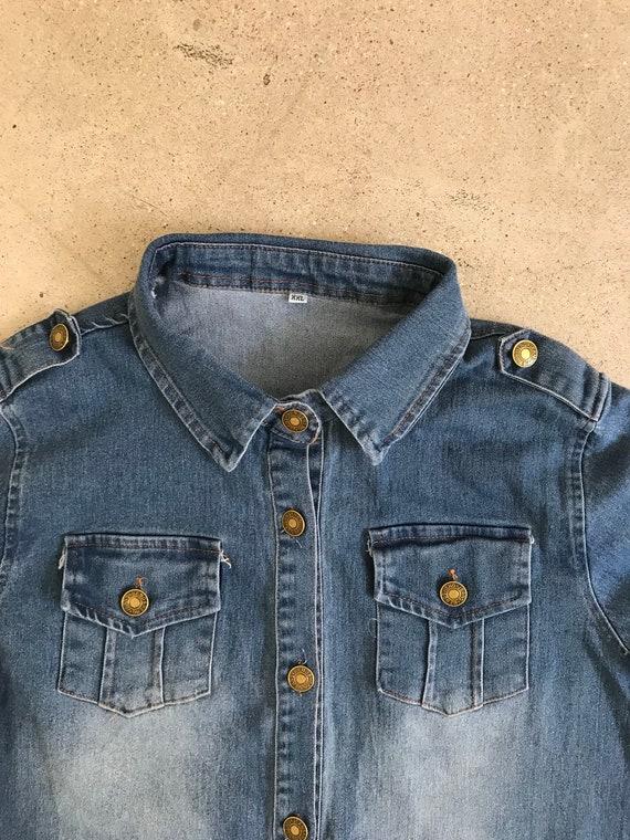 Vintage Denim Dress Shirt