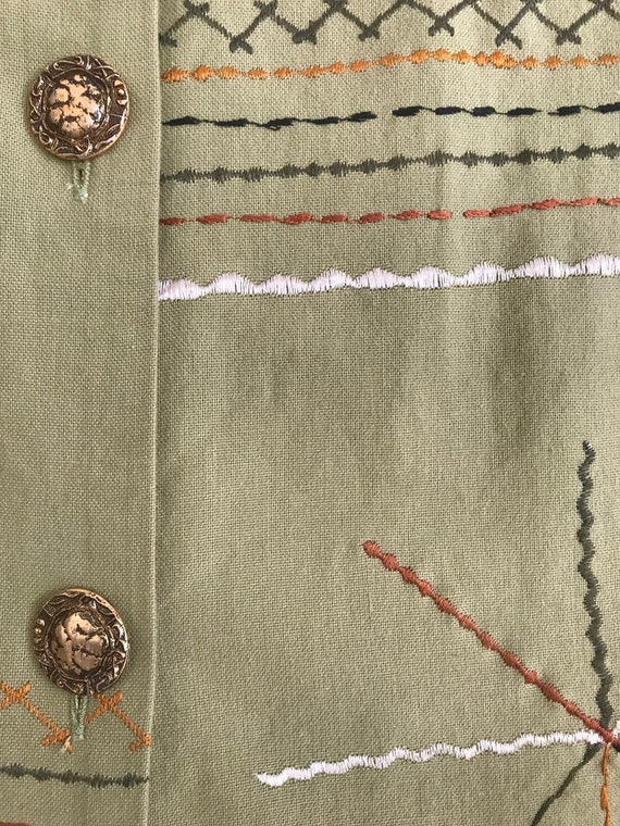Vintage Abstract Trench Coat - image 3