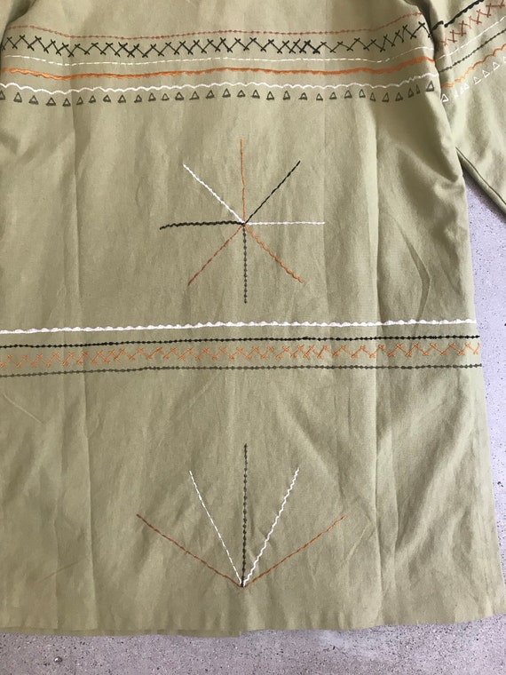 Vintage Abstract Trench Coat - image 7