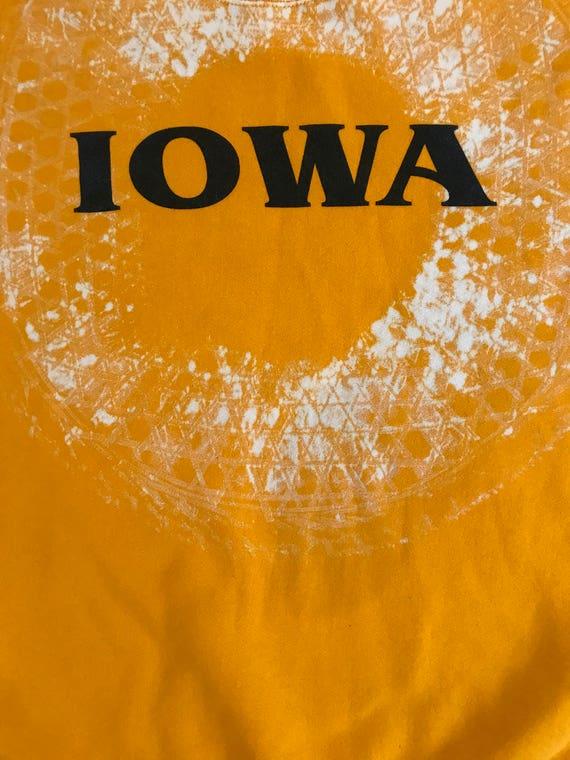 Vintage Iowa Hand Blocked Crewneck