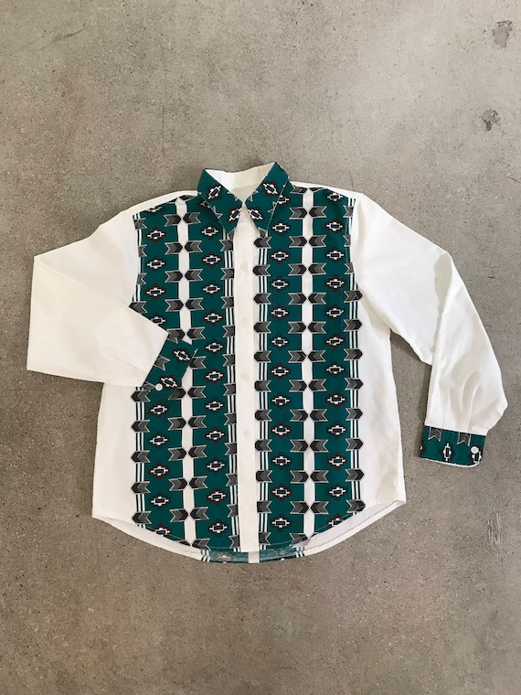 Vintage Native Button Up