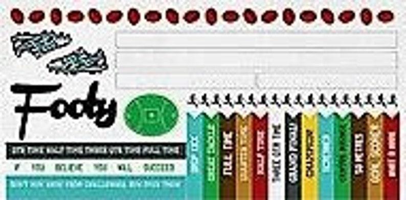 Stickers,Sports,Footy,Soccer,Kaisercraft,Game On,Sticker sheet,Aussie  Rules,Embellishment,Scrapbooking,Card Making,Papercrafts,Kids Craft