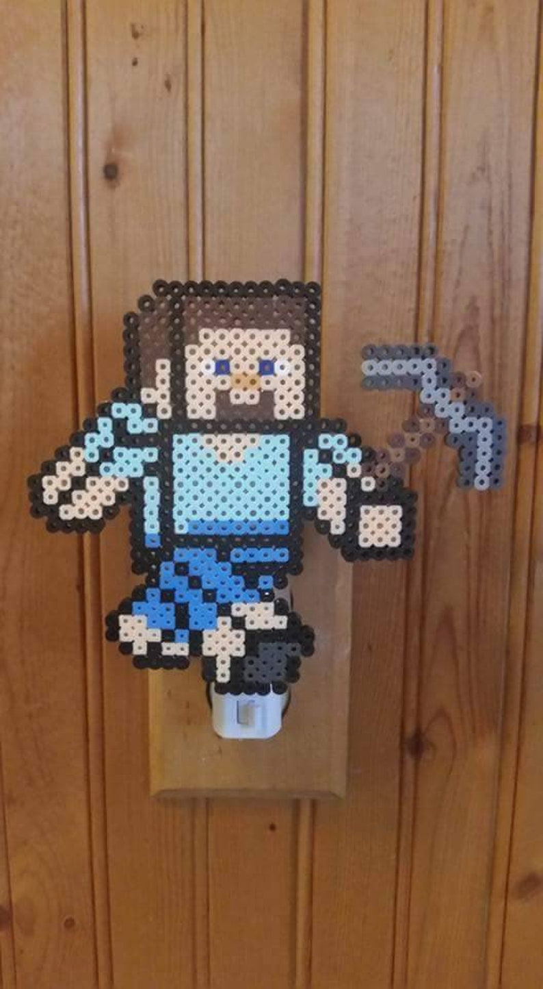 Steve Minecraft Pixel Nightlight For Children Teens Adults Gifts For Him Her Christmas Presents For Gamers Game Room Valentines Day Vday