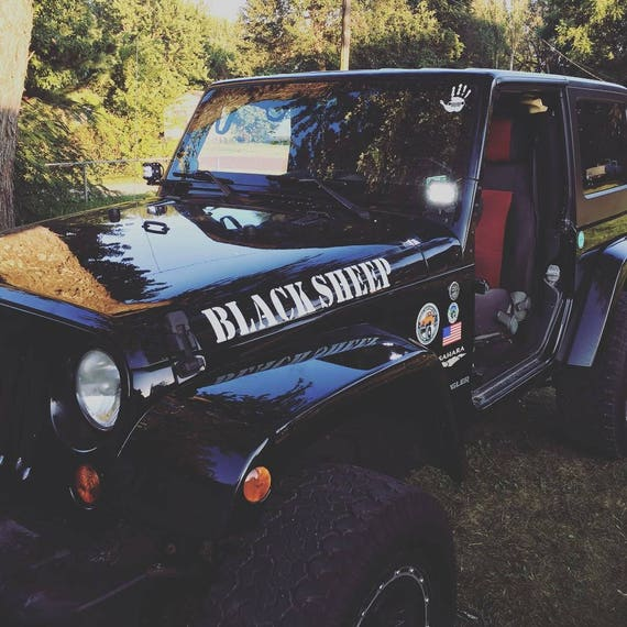 Custom jeep hood decals jeep owner gift jk tj lj yj x