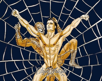 DINNER TONIGHT #215 - Spiderman Gay art Limited edition signed print (50 only)