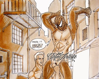 FRIENDLY NEIGHBORHOOD #217 - Spiderman Gay art Limited edition signed print (50 only)