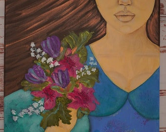 Studio Clearance - Girl with flowers