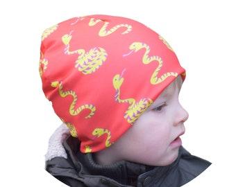 Red Snake Beanie Hat