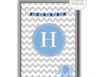 Customized Initial Print, Nursery, Baby Gift, Print Custom Initials Printable, Custom Initials Print,