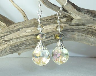 """white white"" Silver earrings jewelry"