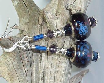 """""""Midnight Blue"""" Silver earrings jewelry"""