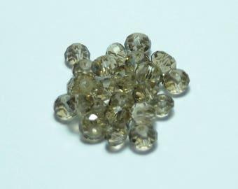 25 4mm bronze Crystal beads