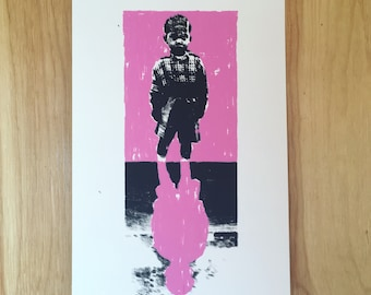 Screenprint // Kid // Pink / Black / White
