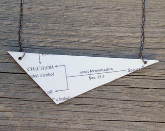 Science necklace, leather - Fermentation