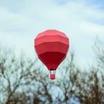 Balloon Mini - low poly, lowpoly, artpaper, decor, diy, pepakura, hand made, kids, template, 3d