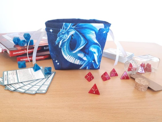 Dragon Themed Dungeons And Dragons Dice Bag Plus Optional Dice Etsy