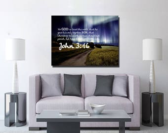 Exceptional John 3:16 #13 KJV U0027For God So Loved The Worldu0027 Scripture Christian Wall Art,  Bible Verse Canvas, Christian Canvas, Bible Verse Wall Art