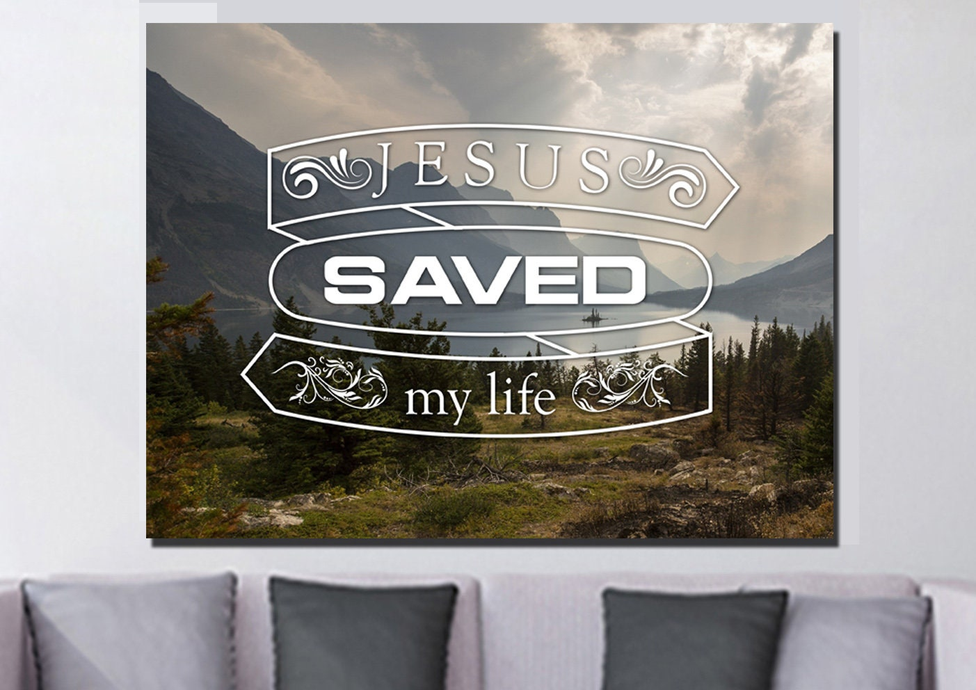 Jesus Saved My Life Bible Christian Quotes Wall Art Canvas Etsy